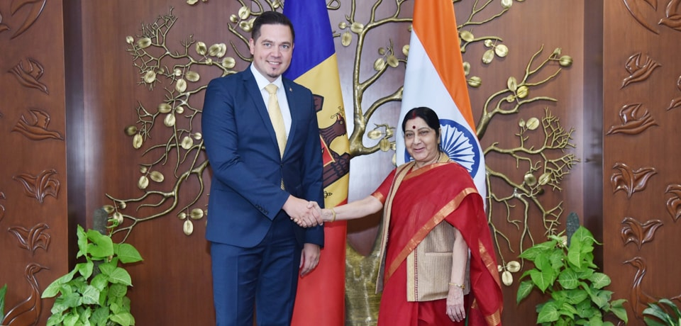 External Affairs Minister meets Tudor Ulianovschi, Minister of Foreign Affairs and European Integration of the Republic of Moldova in New Delhi