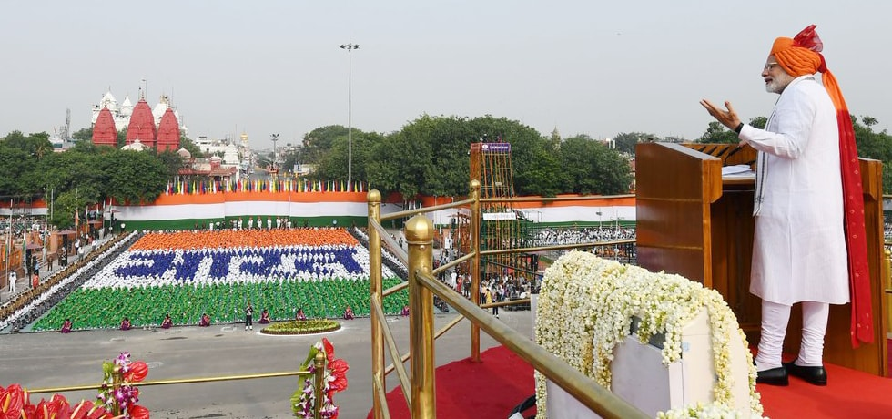 Prime Minister addresses the Nation from the Red Fort on the occasion of 72nd Independence Day