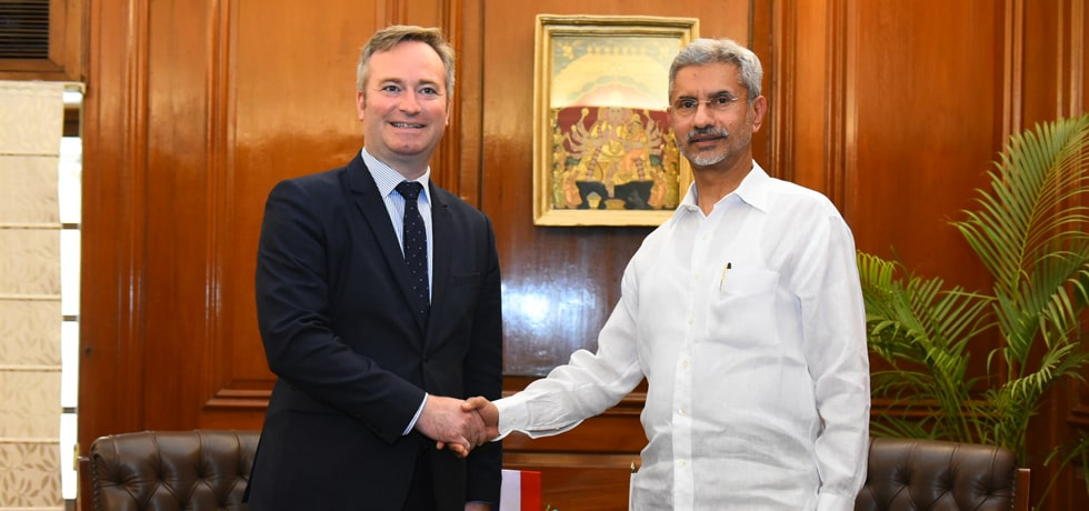 External Affairs Minister meets Jean-Baptiste Lemoyne, Minister of State for Europe and Foreign Affairs of France in New Delhi