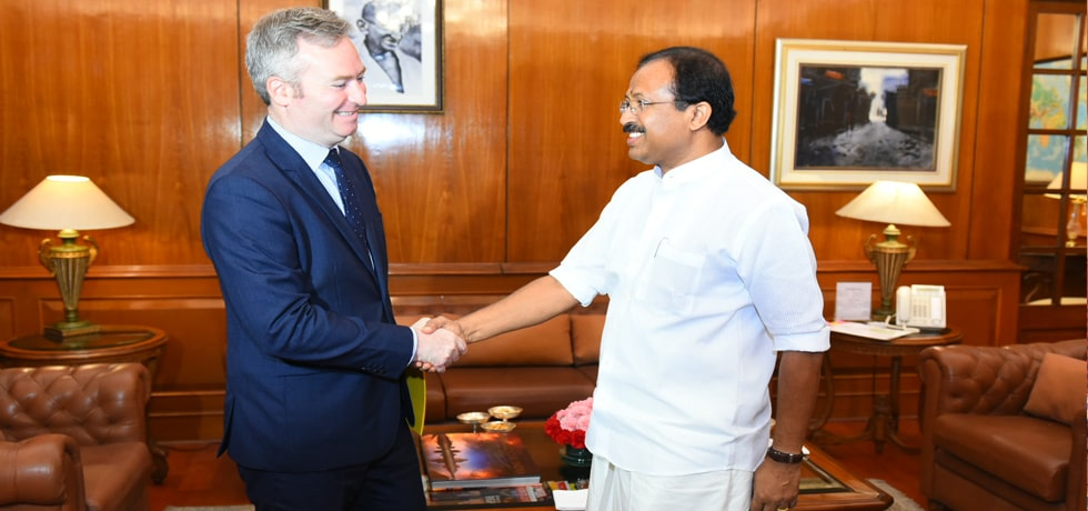 Minister of State meets Jean-Baptiste Lemoyne, Minister of State for Europe and Foreign Affairs of France in New Delhi