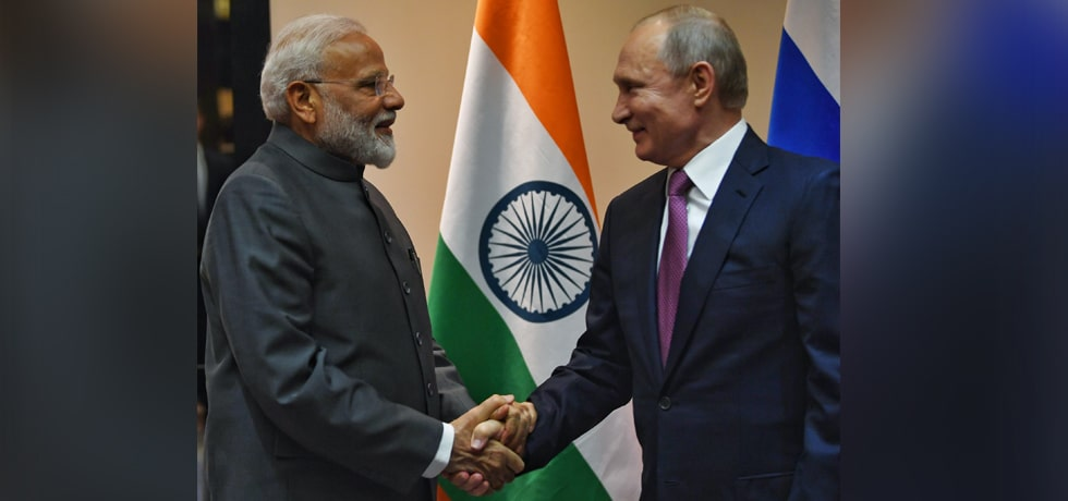 Prime Minister meets Vladimir Putin, President of Russia on the sidelines of SCO Summit 2019 in Bishkek