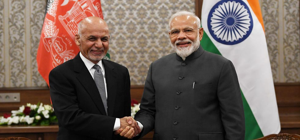 Prime Minister meets Ashraf Ghani, President of Afghanistan on the sidelines of SCO Summit 2019 in Bishkek