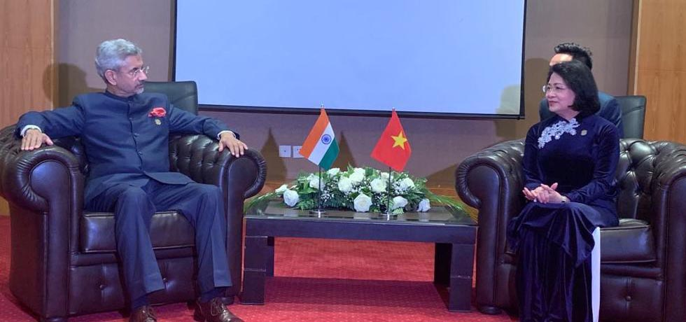External Affairs Minister meets Đặng Thị Ngọc Thịnh, Vice President of Vietnam on the sidelines of CICA Summit 2019 in Dushanbe