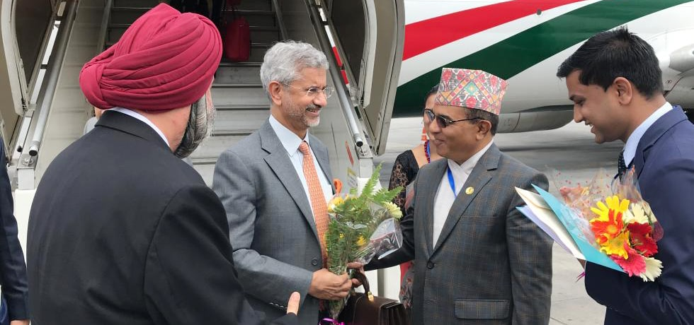 External Affairs Minister arrives in Kathmandu to attend 5th India-Nepal Joint Commission Meeting