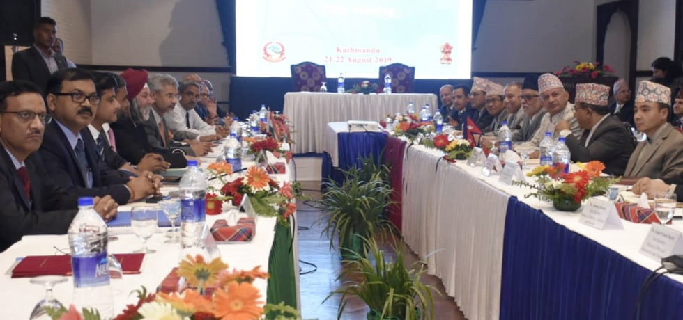 External Affairs Minister attends 5th India-Nepal Joint Commission Meeting in Kathmandu, Nepal