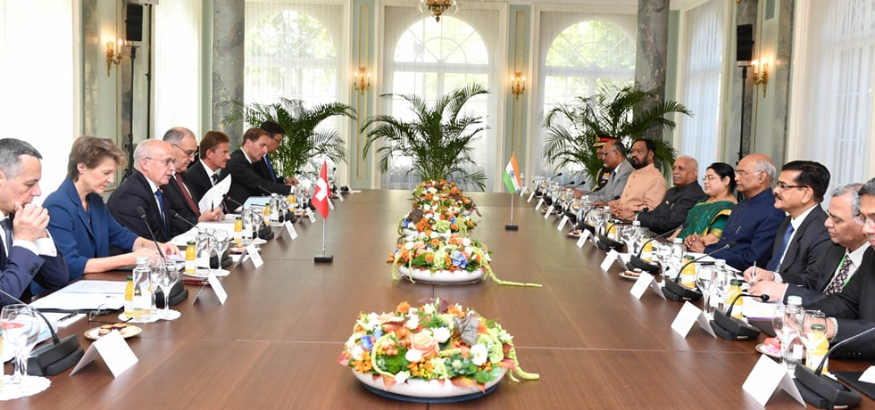 President participates in the Delegation Level Talks in Bernerhof, Switzerland