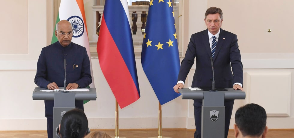 President delivers Press Statement during his State Visit to Slovenia