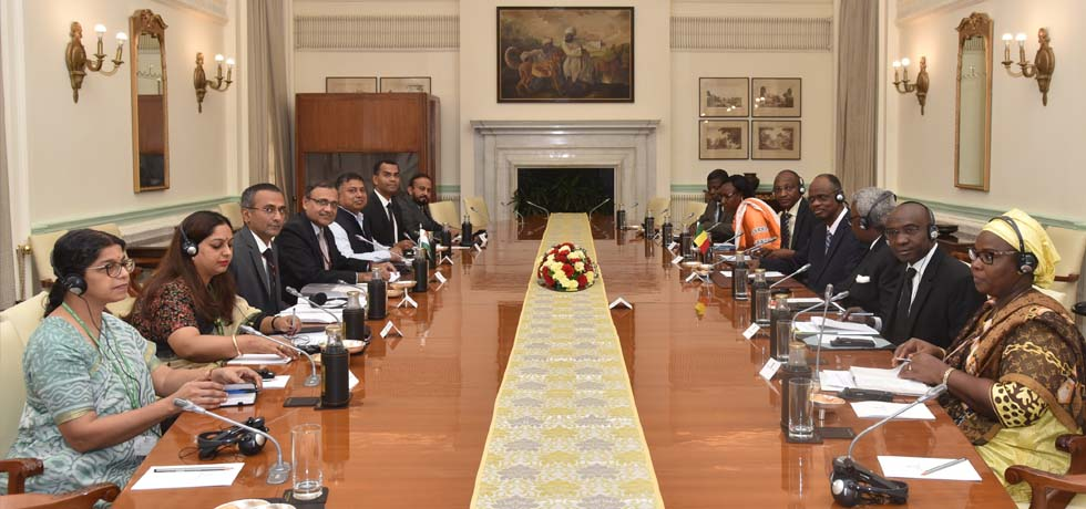 India- Mali Foreign Office Consultations takes place at Hyderabad House, New Delhi [ph]Photo Courtesy:Hemant Joshi[/ph]