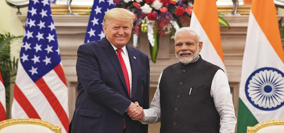 Prime Minister meets Donald J. Trump, President of the United States of America at Hyderabad House, New Delhi