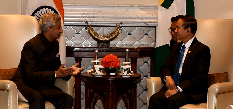 External Affairs Minister calls on U Win Myint, President of Myanmar in New Delhi