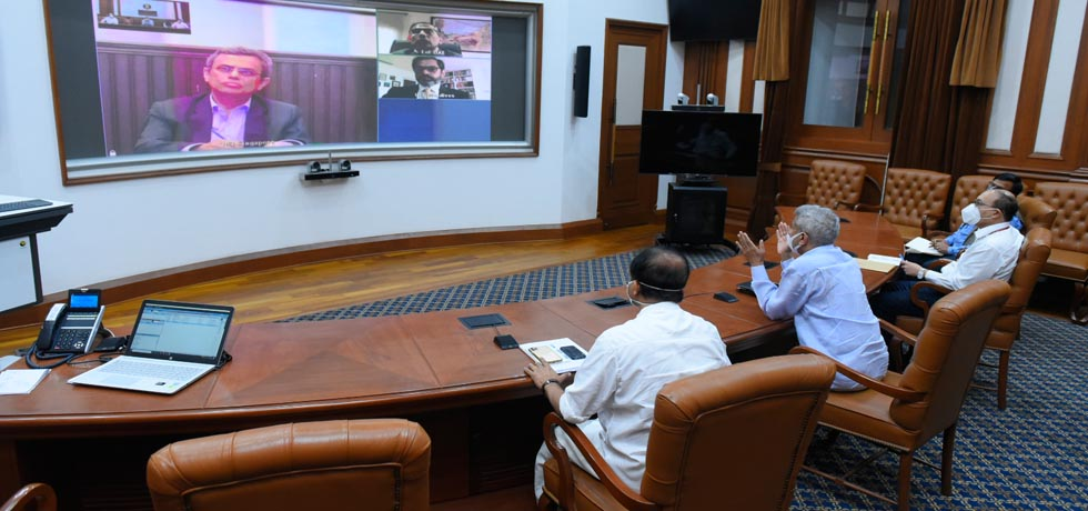 External Affairs Minister's video conference with the Heads of Indian Missions