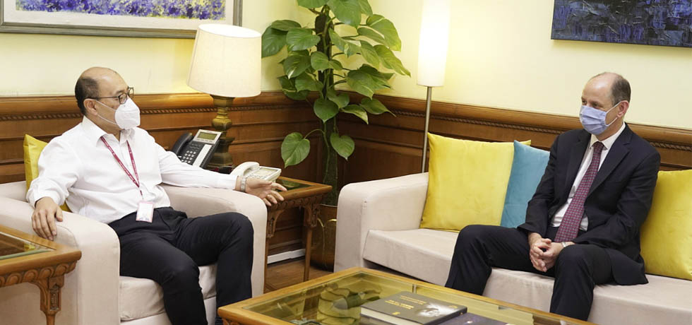 Philip Barton, High Commissioner of Britain to India, calls on the Foreign Secretary in New Delhi[ph]Photo Courtesy: Surman Singh[/ph]