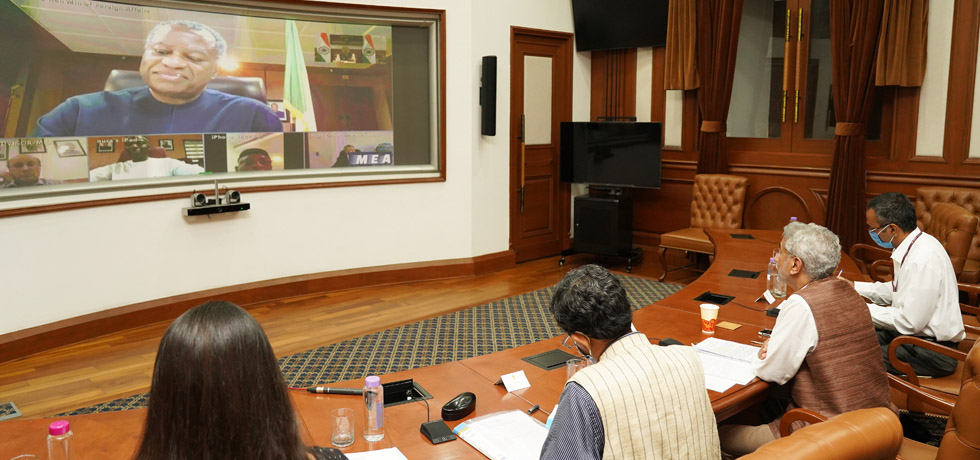 External Affairs Minister participates in the India-Nigeria Virtual Bilateral Meeting