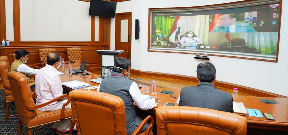 Minister of State for External Affairs and Fayssal Mekdad, Vice Foreign Minister of Syria hold a virtual meeting at the India-Syria Ministerial Consultations