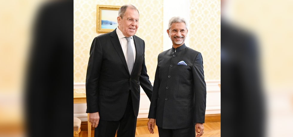 External Affairs Minister meets Sergey Lavrov, Foreign Minister of Russia in Moscow