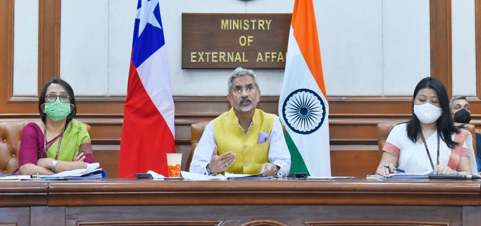 External Affairs Minister at the India-Chile Joint Commission Meeting[ph]Photo Courtesy: Chandan Kumar Shah[/ph]