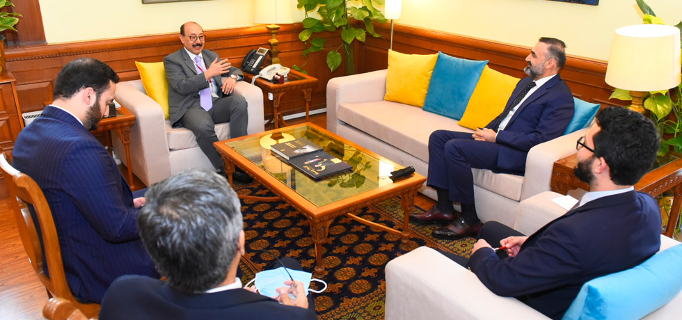 Foreign Secretary meets Mr. Ata Mohammad Noor of Afghanistan, in New Delhi
