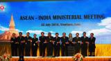 Gen. (Dr.) V. K. Singh (Retd.) at the Family Photo session during ASEAN-India Ministerial Meeting, Vientiane, Lao PDR, 25 July 2016