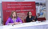 Joint Secretary (ASEAN ML), Ms. Pooja Kapur speaking at the Valedictory Ceremony at INTACH Heritage Academy on 7 February 2017.