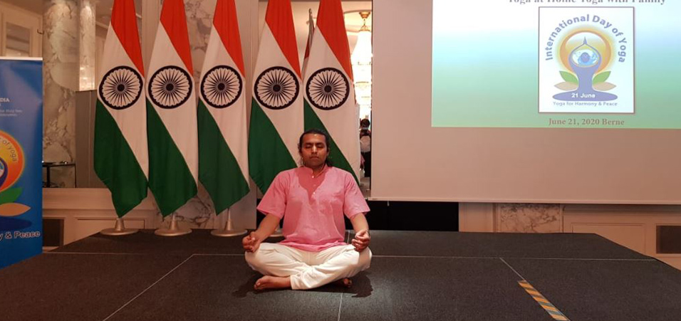 International Yoga Day 2020 celebrations by Embassy of India, Berne