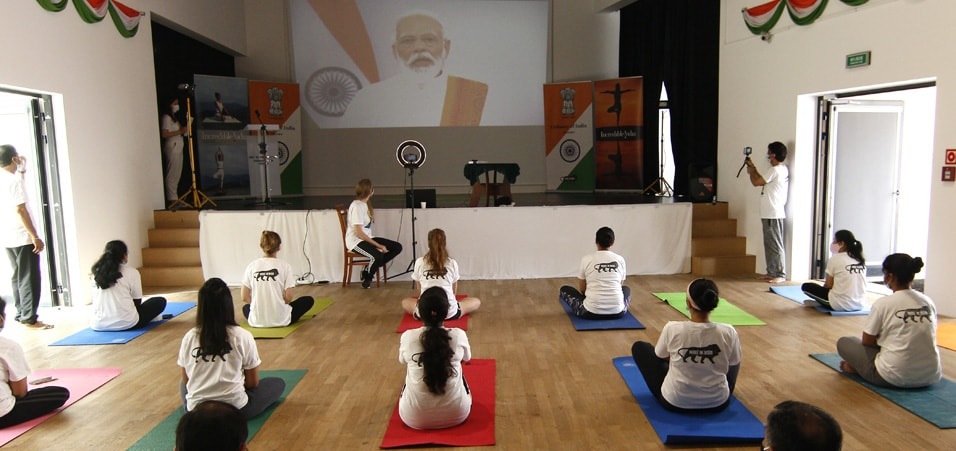 International Yoga Day 2020 celebrations by Embassy of India, Warsaw