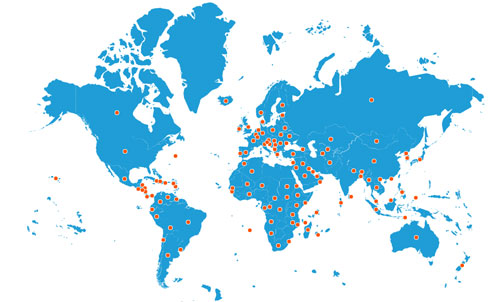 IDY Celebrations Across the World on Map